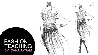 Fashion sketch step by step Thumbnail
