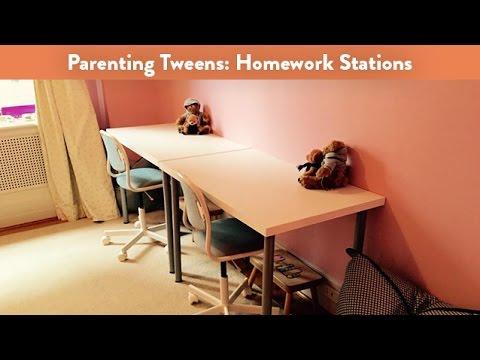 Parenting Tweens: Homework Stations | CloudMom