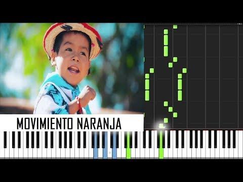 Movimiento Naranja - Yuawi PIANO TUTORIAL Más Midi
