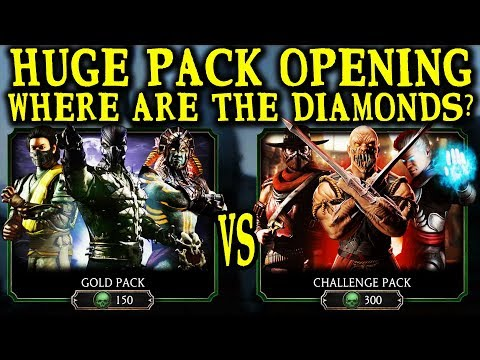 Mortal Kombat Mobile. HUGE Gold Pack And Challenge Pack Opening. They Are LYING To Us!