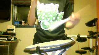 Marching snare drum stick trick