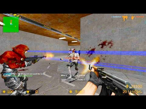 Counter Strike Source - Zombie Riot Mod Online Gameplay On Info Matik Map