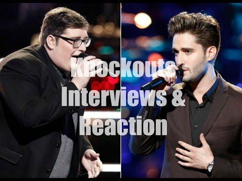 The Voice Season 9 Andi & Alex vs.Blaine, Jordan vs. Viktor Knockouts Interviews & Reaction