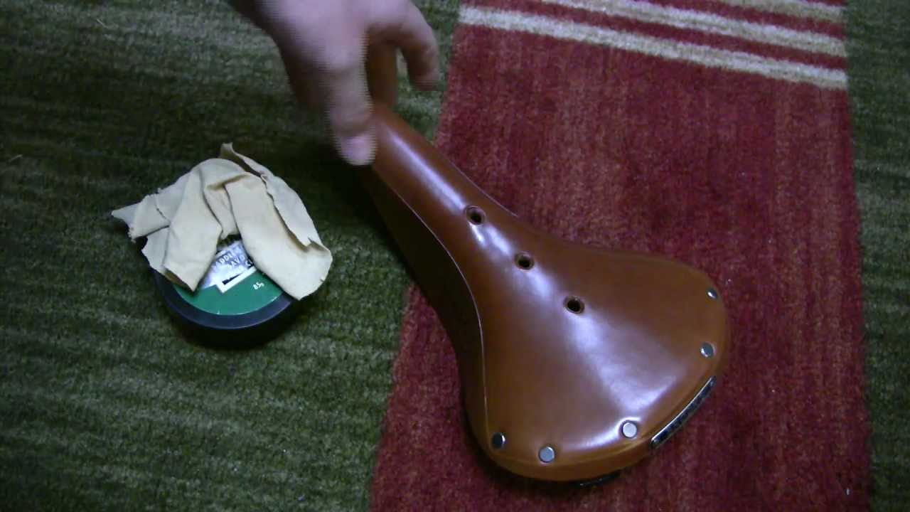 d70d08f660 Brooks Saddle - Breaking in a B17 with saddle soap - YouTube