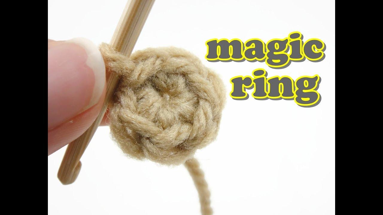Crochet Basic Stitches 6 Magic Ring Youtube