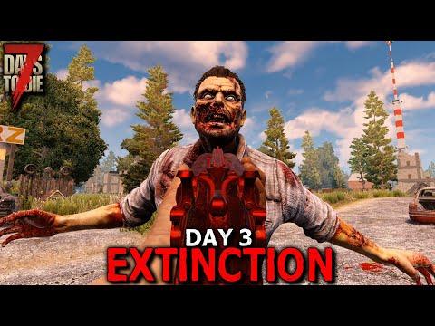 7 Days to Die: Extinction - Day 3 | 7 Days to Die (Alpha 19 Gameplay)