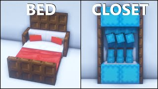 Minecraft: 20+ Bedroom Build Hacks and Ideas! [easy]