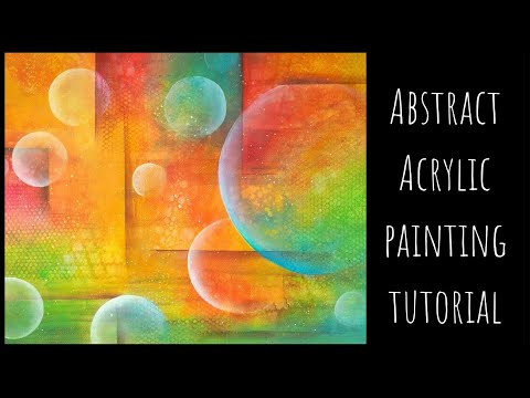 Abstract acrylic painting tutorial   Abstract acrylic techniques, how to blend acrylics
