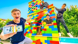 LAST TO LEAVE GIANT LEGO HOUSE WINS $10,000