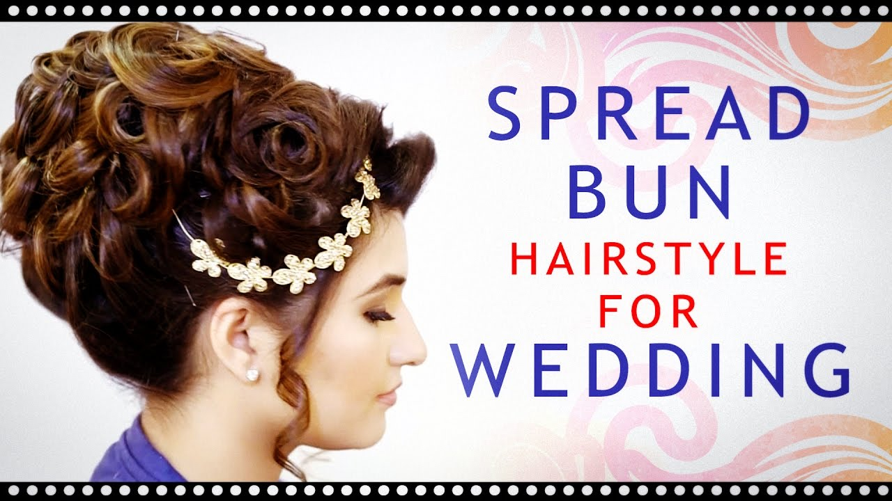 best indian wedding hairstyle | indian bridal hairstyle step by step |  krushhh by konica videos
