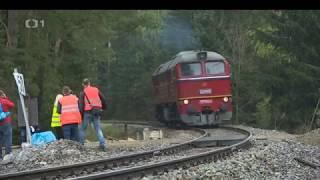 Zatěžkávací zkouška železničního mostu v Pňovanech