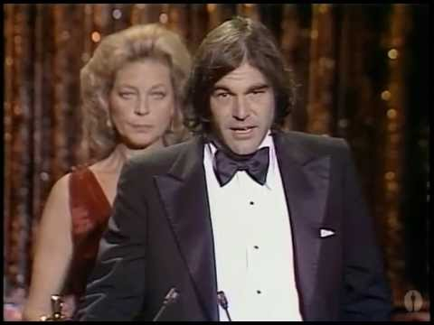 """Oliver Stone winning Best Adapted Screenplay for """"Midnight Express"""""""