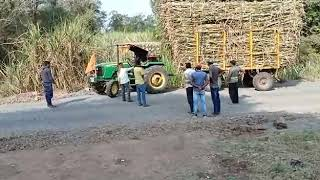 Tractor Trolly accident