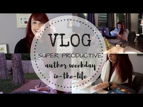 VLOG | Super Productive Author Weekday-In-The-Life
