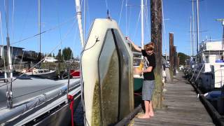 Life is Like Sailing - Cleaning up the Dinghy