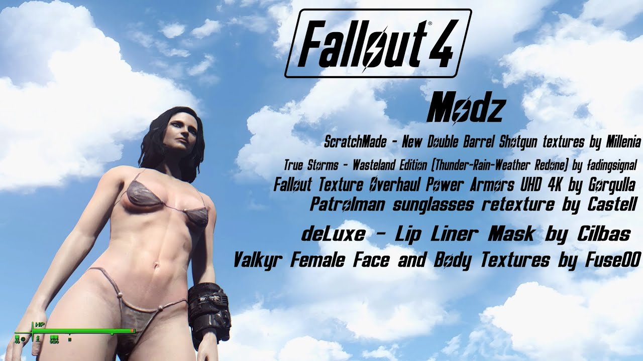 Fallout 4 Modz #7: Valkyr Female Face and Body Textures & more! by  It'sAGundam