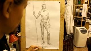 Обучение рисунку.Фигура. 13 серия. Короткий рисунок