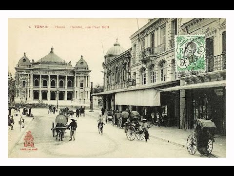 Old Opera House & Trang Tien street in Hanoi when it was Paul Bert