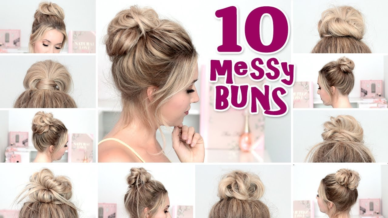 10 MESSY BUN hairstyles for New Year\'s eve, party, holidays ...