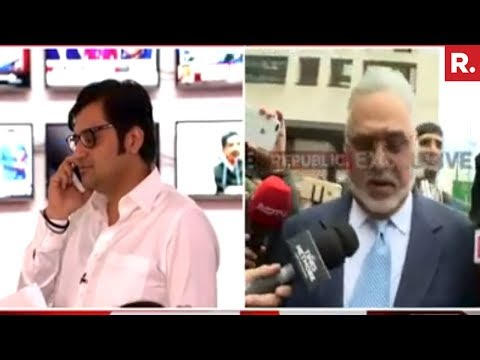 Arnab Goswami Confronts Vijay Mallya | Exclusive