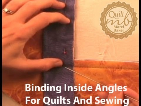 Binding Inside Angles for Quilts and Sewing