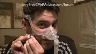 Philips Respironics Wisp Nasal CPAP Bilevel Mask Fitting Review Demonstration FreeCPAPAdvice com