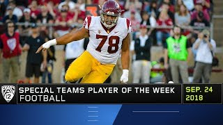USC redshirt freshman Jay Tufele named Pac-12 Football Special Teams Player of the Week