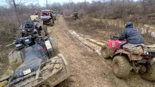 Mud Creek   2016 Honda Rubicon Pulling EVERYONE Out w/ The TigerTail