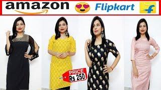 kurti under Rs 500 | summer कुर्ती haul | amazon kurti review | flipkart kurti review |amazon haul