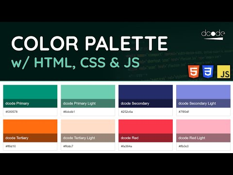 Creating A Color Palette Using HTML, CSS & JavaScript - Project