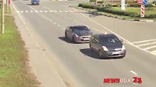 Столкновение GTR и учебной машины в Находке попало на видео