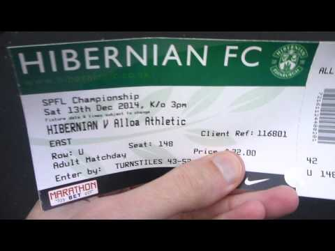Outside Stadium Before Hibs v Alloa Match at Easter Road   Edinburgh   Scotland   December 2014