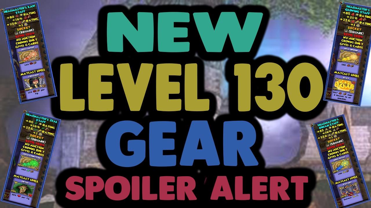 Wizard101 New Level 130 Gear! | Spoilers Alert! | New Professor's Hoard  Pack | Empyrea