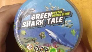 Keep or trash Slime ?! Playing with Greenrystalinimal slime Shark tale