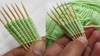 2020 new tooth pick amazing trick part 2 wool thread 2020 hand embroidery design tricks