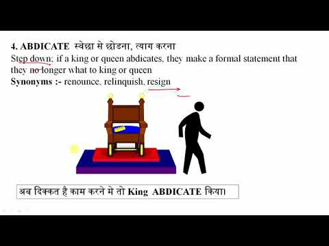 A to Z English Vocabulary Words With Meaning in Hindi Part A I