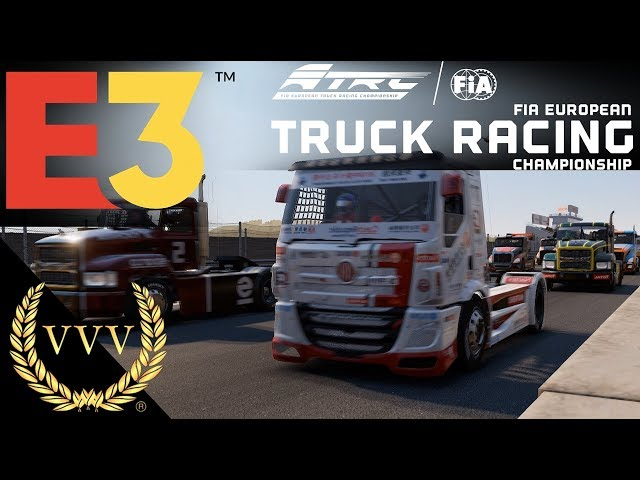 FIA European Truck Racing Gameplay E3 2019