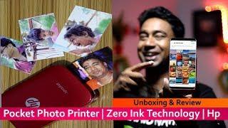 Hp Pocket Photo Printer | No Ink Required | Smartphone Wireless Printing | HP Sprocket Printer