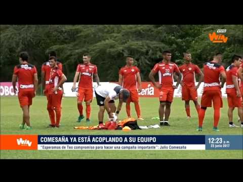 Julio Comesaña, DT de Junior, en Win Noticias | Win Sports