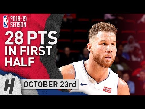 Blake Griffin Full Highlights Pistons vs 76ers 2018.10.23 - 28 Pts in First Half!