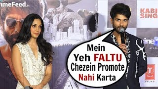 Shahid Kapoor's BEST Reaction On Drugs & Alcohol Scene At Kabir Singh Trailer Launch