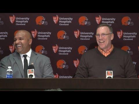 John Dorsey & Hue Jackson Draft Day 1 Press Conference