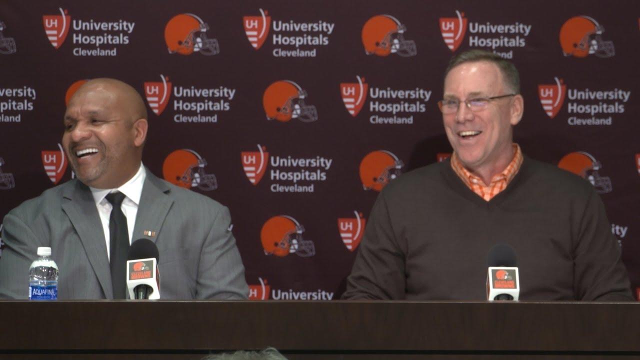 John Dorsey & Hue Jackson 2018 NFL Draft Day 1 Press Conference   Cleveland Browns