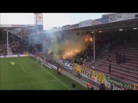 """לה פמיליה בית""""ר - אבוקות מול שרלרואה בבלגיה, Sporting Charleroi - Beitar Jerusalem Pyroshow"""