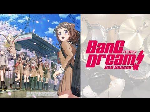 『バンドリ! 2nd Season』OP「キズナミュージック♪」FULL 叩いてみた。/BanG Dream! 2 OP Kizuna Music FULL Drum cover