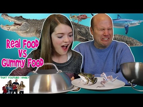 Thumbnail: Real Food Vs Gummy Food Challenge / That YouTub3 Family