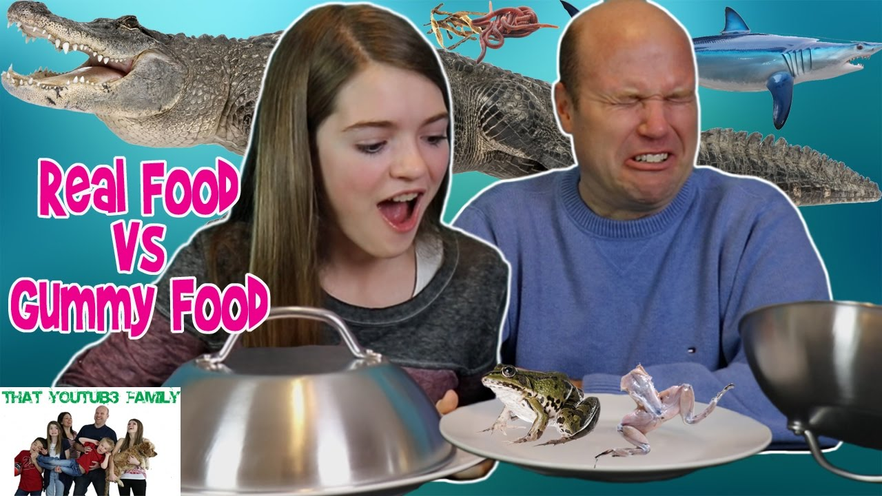 Real Food Vs Gummy Food Challenge  That Youtub3 Family -3471