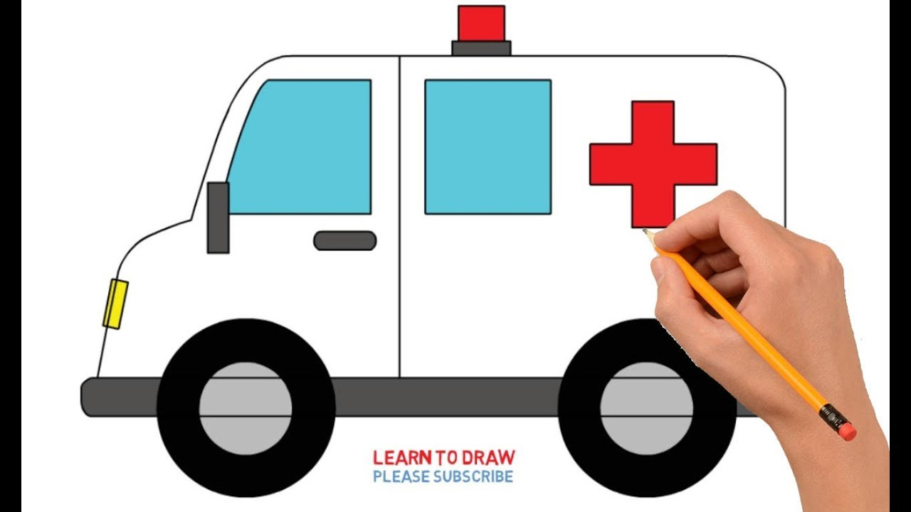How To Draw Ambulance Step By Step Easy For Kids Youtube