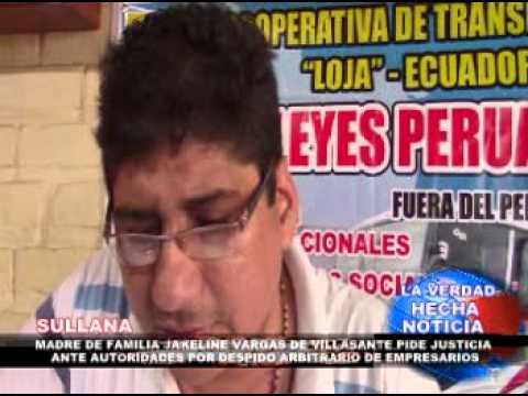 MADRE DE FAMILIA JAKELINE VARGAS DE VILLASANTE PIDE JUSTICIA ANTE AUTORIDADES
