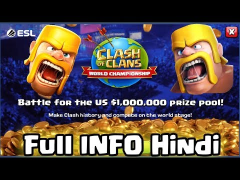 download Clash of Clans World Championship 2019 { price pool 10 million US dollars} Hindi